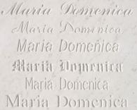 Гравиране на надписи с различен шрифт