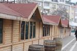Дървена търговска сергия по поръчка