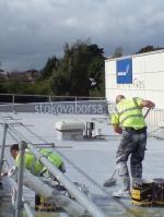 поставяне на хидроизолация на покрив