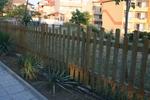огради дървени лакирани решетъчни