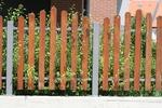 дървена ограда по поръчка лакирана решетъчна