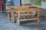 битови дървени пейки за заведения