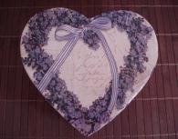 Кутия за бижута Purple heart