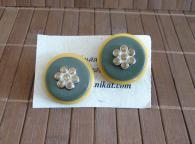 Авторски ръчно изработени обеци Sunflowers