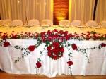 луксозна декорация с цветя за сватба