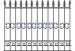 изработка на висока ограда от ковано желязо