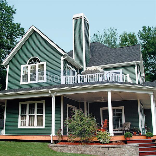 Rivestimento di edifici con rivestimenti in verde