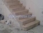 scala in marmo di calcestruzzo
