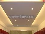 окачен таван от гипсокартон със скрито осветление