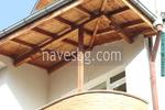 Изработка на навеси от дърво за тераси по индивидуален проект