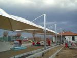 изграждане на мембранна тента за паркинг