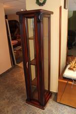 стъклена дървена витрина