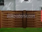 дървени огради от дървени пана 200x125см.