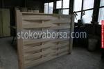 дървени огради от оградни пана с безцветен лак