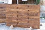 изграждане на дървени огради от чам с дървени пана 200x70см