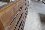 изграждане на дървени огради от чам с дървени пана 200x90см
