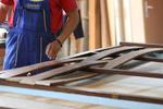 огради от дървени пана 200x90см