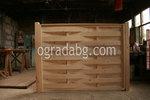 дървени огради от дървени пана без лак