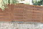изграждане на дървени огради от чам с дървени пана 200x150см