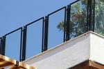 парапет за тераса от метал и стъкло